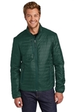 Packable Puffy Jacket Tree Green with Marine Green Thumbnail