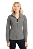 Women's Heather Microfleece Full-Zip Jacket Pearl Grey Heather Thumbnail