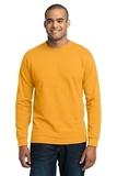 Long Sleeve 50/50 Cotton / Poly T-shirt Gold Thumbnail