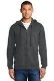 Full-zip Hooded Sweatshirt Black Heather Thumbnail