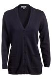 Women's Cardigan Sweater Navy Thumbnail