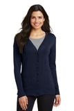 Women's Modern Stretch Cotton Cardigan True Navy Thumbnail
