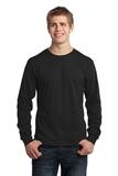 Long Sleeve 5.4-oz. 100 Cotton T-shirt Jet Black Thumbnail