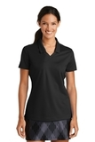Women's Nike Golf Shirt Dri-FIT Micro Pique Polo Shirt Black Thumbnail