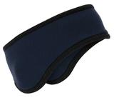 Two-color Fleece Headband Navy Thumbnail