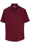 Men's Easy Care Poplin Shirt SS Burgundy Thumbnail