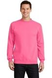 7.8-oz Crewneck Sweatshirt Neon Pink Thumbnail