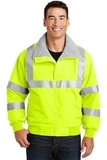 Safety Challenger Jacket With Reflective Taping Safety Yellow with Reflective Thumbnail