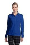 Women's Nike Golf Long Sleeve Dri-FIT Stretch Tech Polo Shirt Blue Sapphire Thumbnail