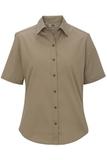 Women's Short Sleeve Service Shirt Tan Thumbnail