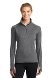 Women's Stretch 1/2-zip Pullover Charcoal Grey Heather Thumbnail