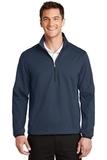 Active 1/2-Zip Soft Shell Jacket Dress Blue Navy Thumbnail