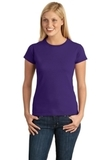 Women's Softstyle Ring Spun Cotton T-shirt Purple Thumbnail