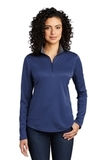 Women's Silk Touch Performance 1/4-Zip Royal with Steel Grey Thumbnail