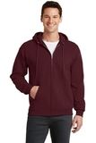 7.8-oz Full-zip Hooded Sweatshirt Maroon Thumbnail