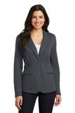 Women's Knit Blazer Battleship Grey Thumbnail