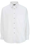 Men's Button Down Poplin Shirt LS White Thumbnail