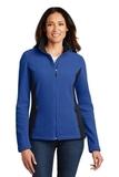 Women's Colorblock Value Fleece Jacket True Royal with Black Thumbnail