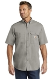 Carhartt Force Ridgefield Solid Short Sleeve Shirt Asphalt Thumbnail