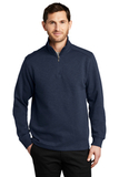 Slub Fleece 1/4-zip Pullover Navy Thumbnail