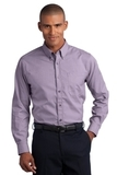 Button-down Mini-check No-iron Shirt Bermuda Purple Thumbnail