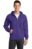 7.8-oz Full-zip Hooded Sweatshirt Purple Thumbnail