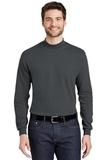 Interlock Knit Mock Turtleneck Steel Grey Thumbnail