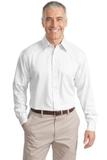 Tall Long Sleeve Non-iron Twill Shirt White Thumbnail