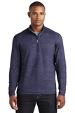 Sport-Wick Stretch Reflective Heather 1/2-Zip Pullover True Navy Thumbnail