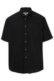 Men's Button Down Poplin Shirt SS Black Thumbnail