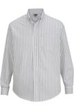 Edwards Men's Double Stripe Dress Poplin Shirt Silver Thumbnail