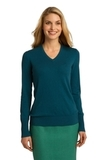 Women's Port Authority V-neck Sweater Moroccan Blue Thumbnail