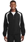 Colorblock Raglan Jacket Black with White Thumbnail