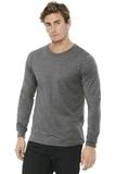 BELLACANVAS Unisex Jersey Long Sleeve Tee Grey Triblend Thumbnail
