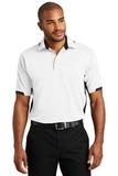 Dry Zone Colorblock Ottoman Polo Shirt White with Black Thumbnail