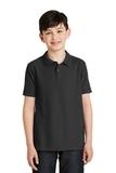 Youth Silk Touch Polo Shirt Black Thumbnail