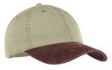 2-tone Pigment-dyed Cap Khaki with Maroon Thumbnail