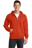 7.8-oz Full-zip Hooded Sweatshirt Orange Thumbnail