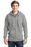 Ultimate Cotton Full-zip Hooded Sweatshirt Light Steel Thumbnail