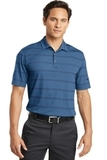 Nike Golf Dri-fit Fade Stripe Polo Photo Blue with College Navy Thumbnail