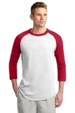Colorblock Raglan Jersey White with Red Thumbnail