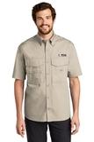 Eddie Bauer Short Sleeve Fishing Shirt Driftwood Thumbnail