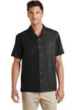 Textured Camp Shirt Black Thumbnail