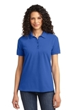 Women's 50/50 Pique Polo Royal Thumbnail
