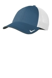 Nike Golf Dri-FIT Mesh Back Cap Navy with White Thumbnail