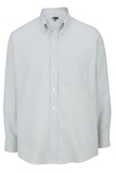 Men's Dress Button Down Oxford LS Grey Stripe Thumbnail