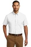 Short Sleeve Carefree Poplin Shirt White Thumbnail