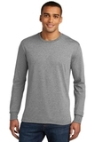 Made Men's Perfect Tri Long Sleeve Crew Tee Grey Frost Thumbnail