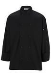 Ten Knot Button Chef Coat Black Thumbnail