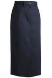 Misses Long Chino Skirt Navy Thumbnail